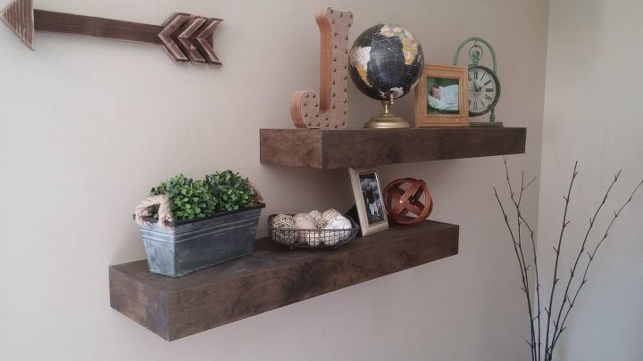 s 25 incredibly unique shelving ideas, Refined Rustic Floating Shelves