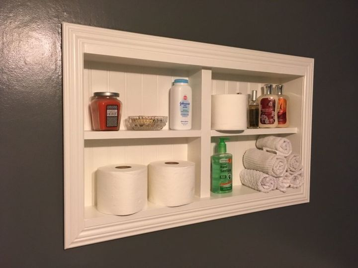 Wall Shelves For A Tiny Half Bath Diy