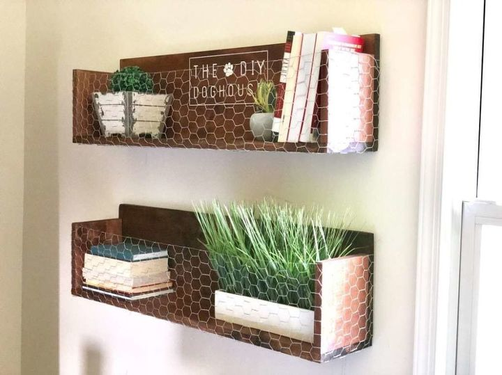 s 25 incredibly unique shelving ideas, Farmhouse Display Shelves
