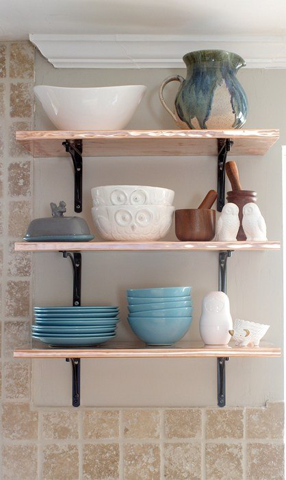 s 15 kitchen updates under 20, Fold Copper For Shelving