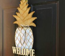 welcome pineapple door decor