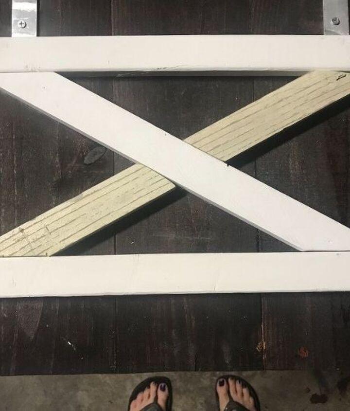 hutch with diy barn doors