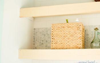 Natural Floating Wood Shelves