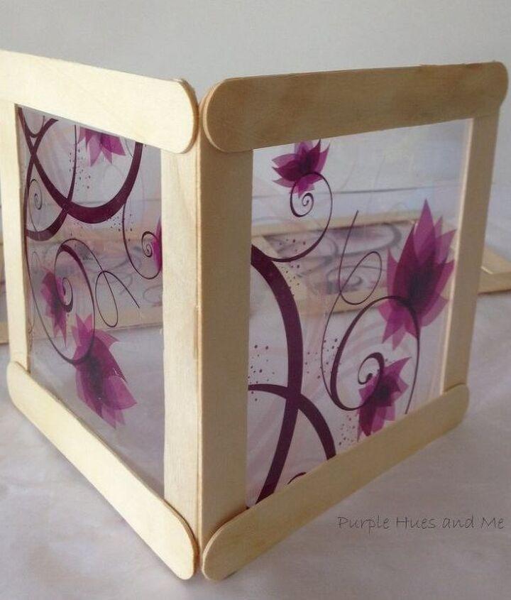 decorative film craft sticks lantern