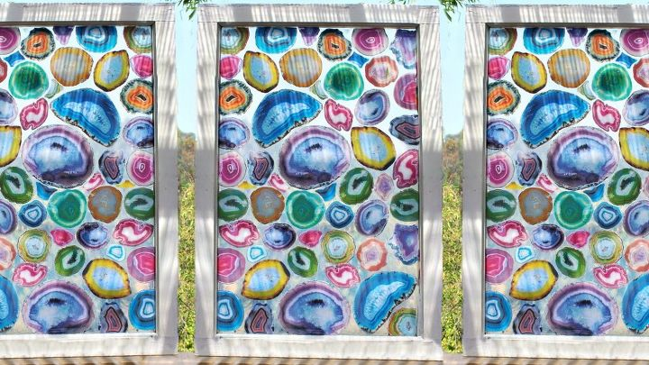 s 19 fantastic techniques for faux stained glass, Geode DIY Faux Agate Stained Glass