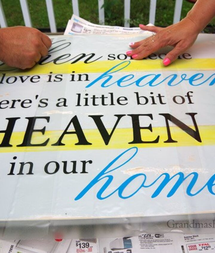 when someone we love is in heaven sign