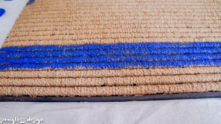 paint a plaid welcome mat
