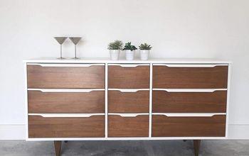 mcm mid century modern dresser recieves a superior makeover
