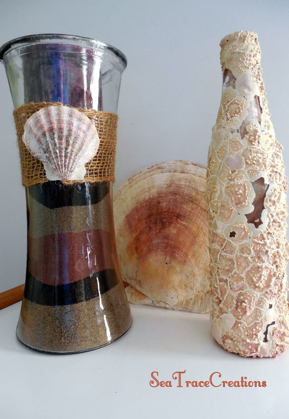 s 31 coastal decor ideas perfect for your home, Craft Food Colored Sand Vases