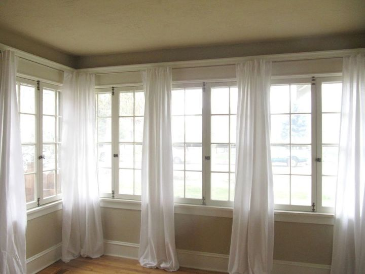 s 15 genius curtain ideas to instantly upgrade your space, Hang Bed Sheets For Curtains
