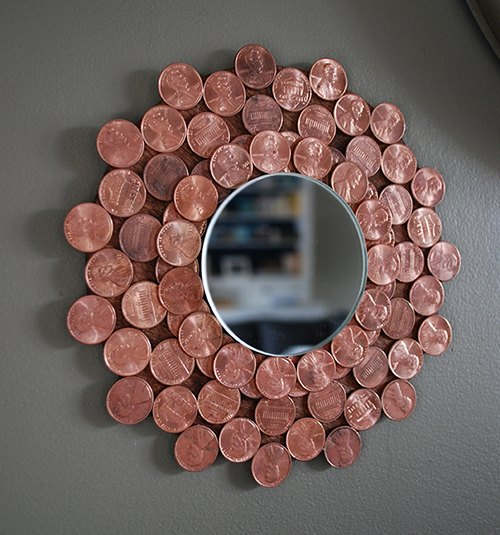 s 30 ways to turn a mirror from drab to fab, Penny Starburst Mirror