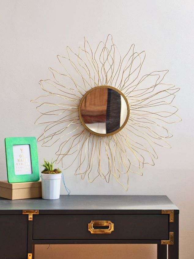 s 30 ways to turn a mirror from drab to fab, Anthro Inspired Mirror