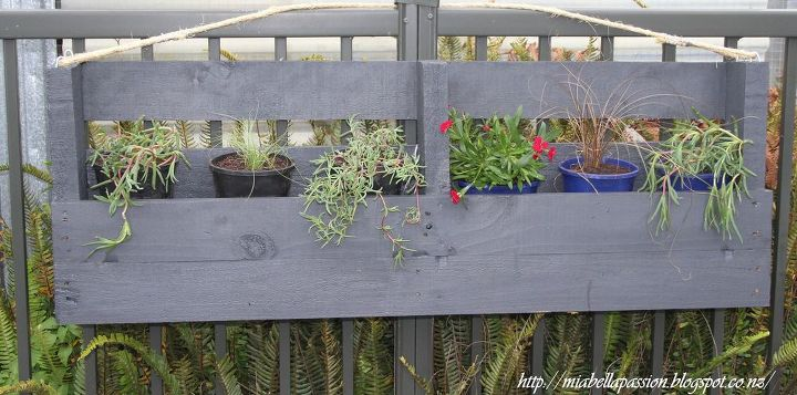 s pallets pallets pallets, Upcycled Pallet Hanging Planter Box
