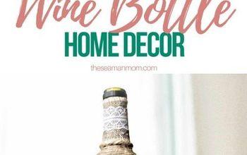 wine bottle art home decor