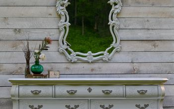 gray french provincial dresser