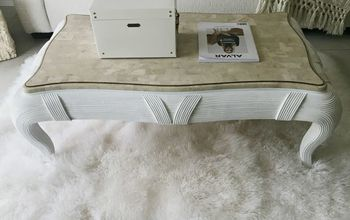 thrifted coffee table makeover