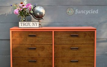 burnt orange mid century dresser