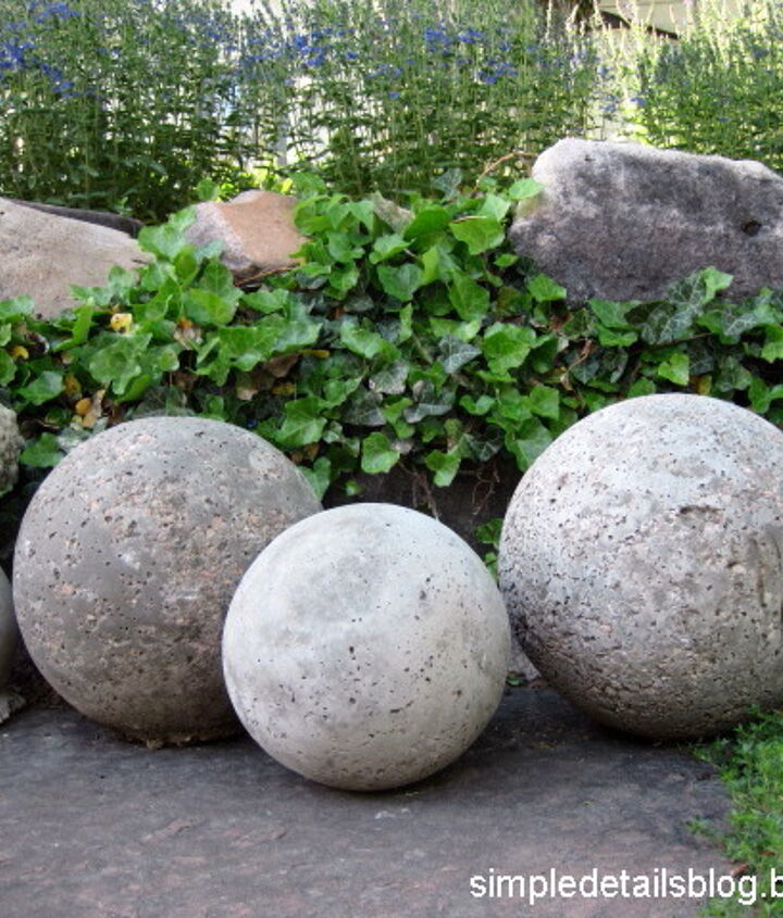 s 20 easy concrete projects that anyone can make, Easy Concrete Garden Spheres