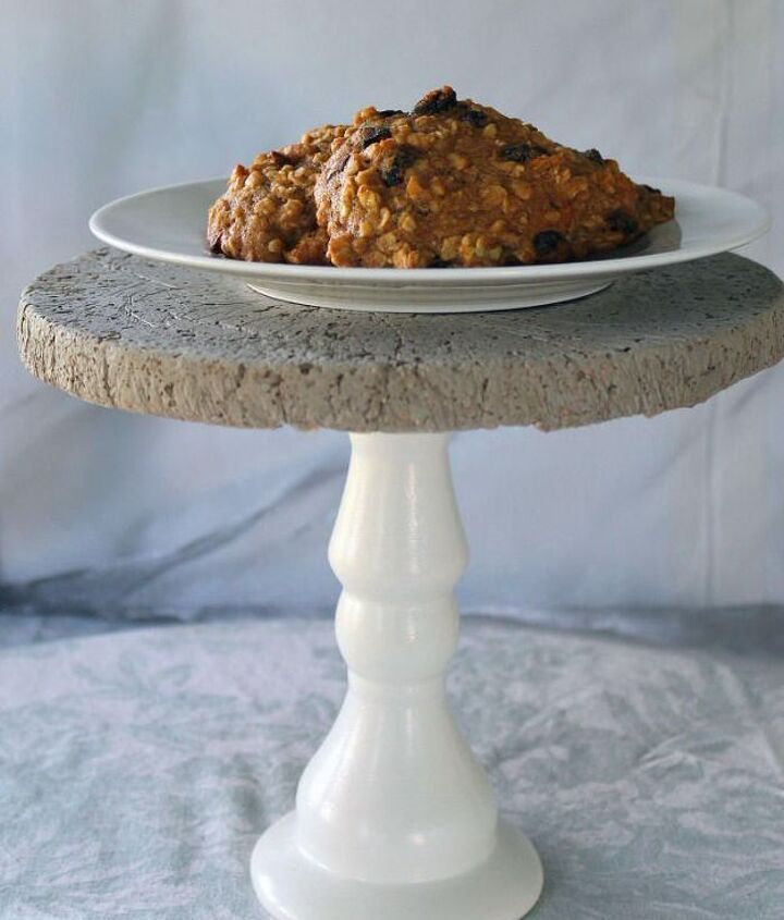 s 20 easy concrete projects that anyone can make, How to Make A Beautiful Concrete Cake Stand