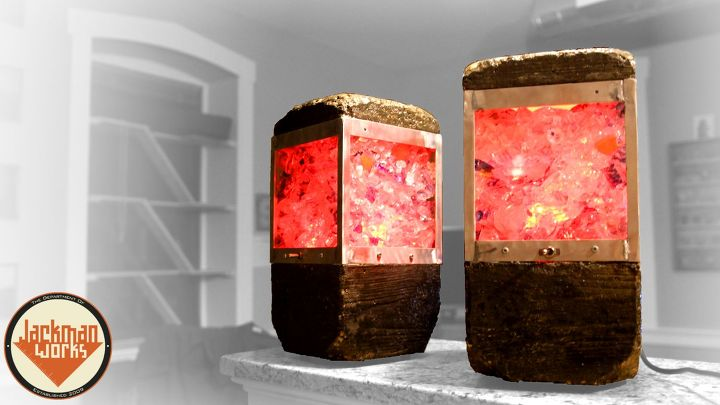 s 20 easy concrete projects that anyone can make, Concrete Upcycled Glass Lamps