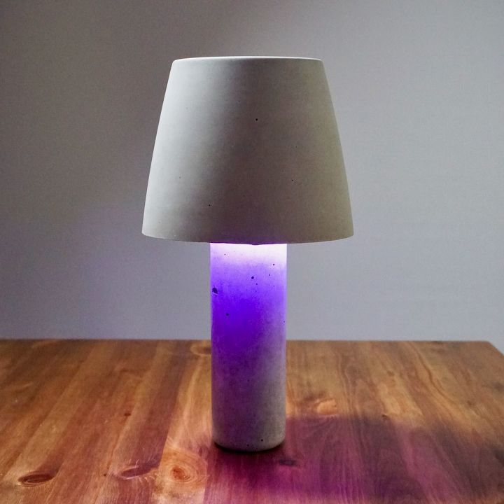 s 20 easy concrete projects that anyone can make, DIY Concrete Lamp Shade Light