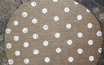 create the cutest polkadot doormat ever