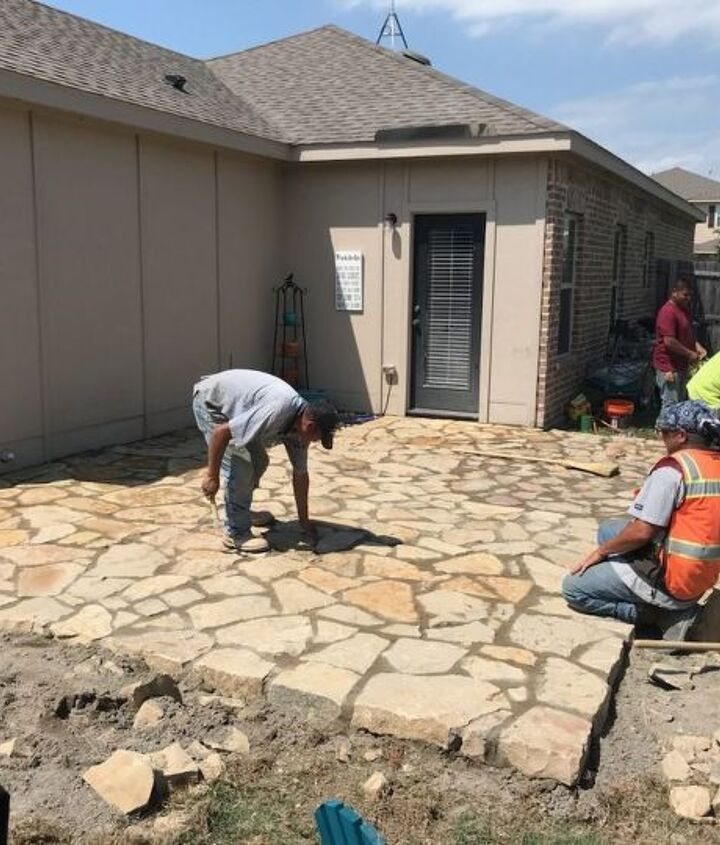 q how do i build a patio roof over my new flagstone patio