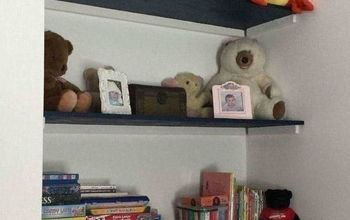 adding storage to childs room, Close up of just wall shelf s
