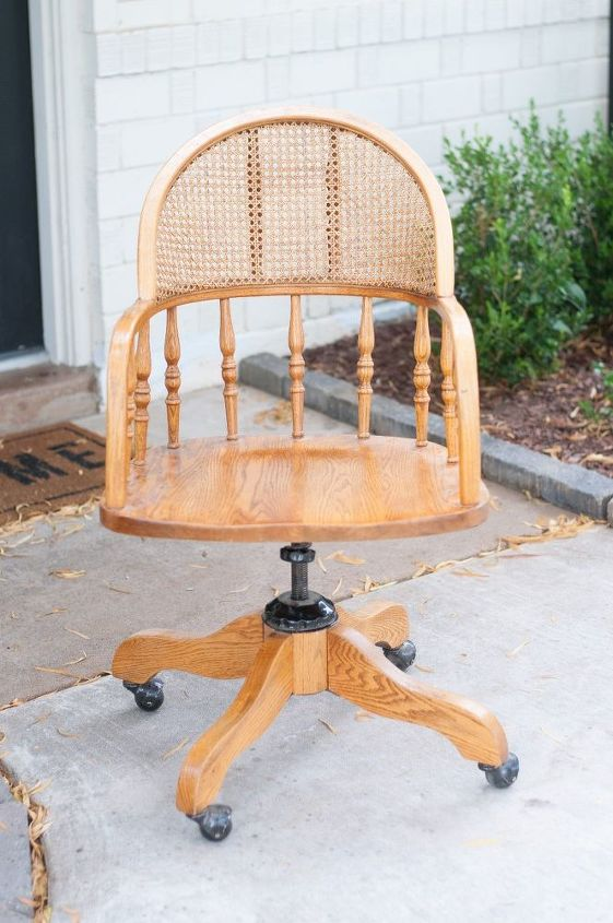 diy cane desk chair makeover