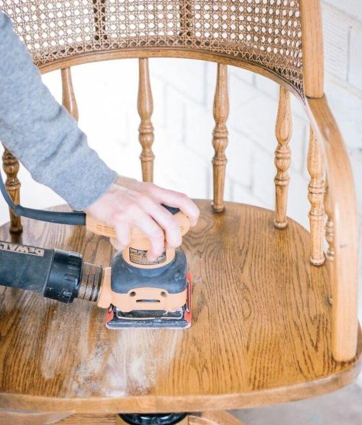 diy cane desk chair makeover