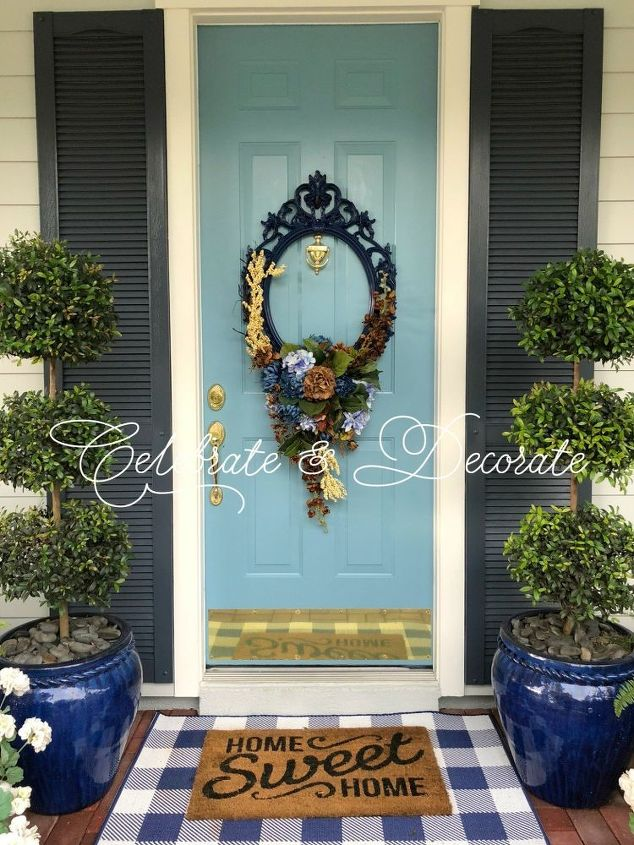 use a picture frame for an amazing wreath