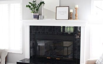 how to paint over the brass on your fireplace