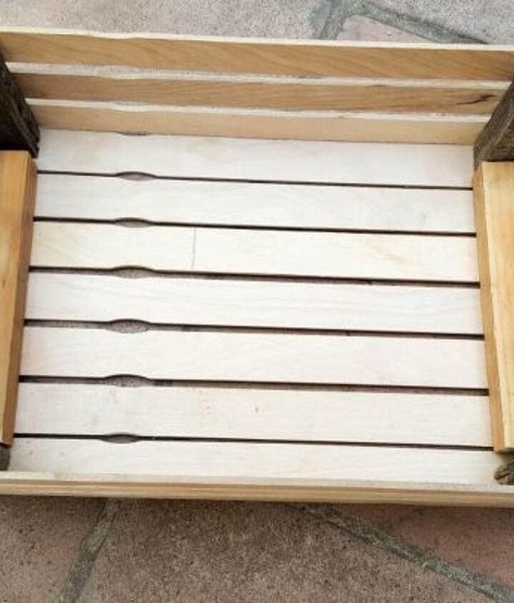 diy paint stirrer crate planter
