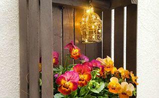 diy paint stirrer crate planter