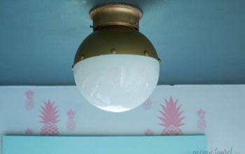 Easy Upgrade for Your Flush Mount Ceiling Light