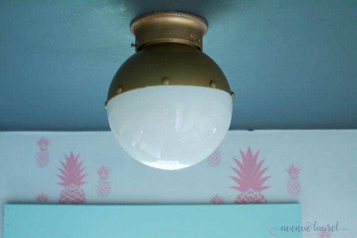 easy upgrade for your flush mount ceiling light