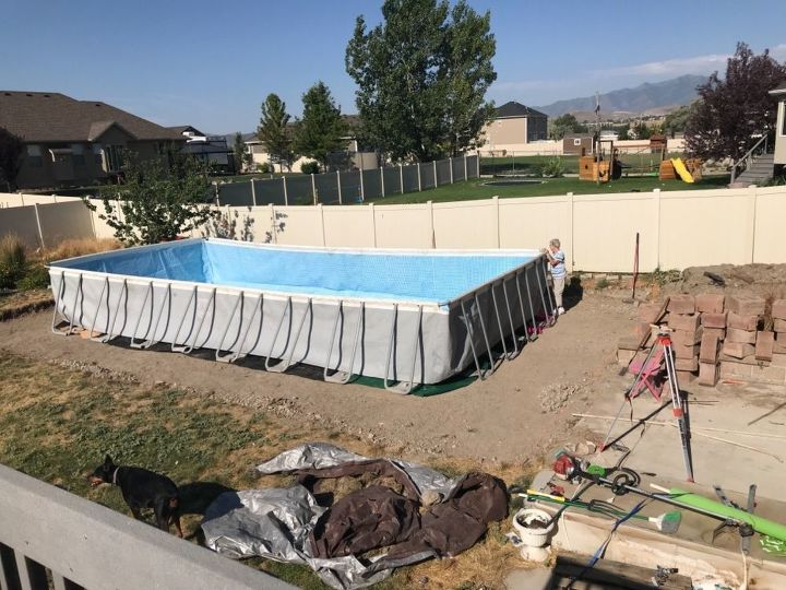 q we re putting in an above ground pool should we put sand down aroun