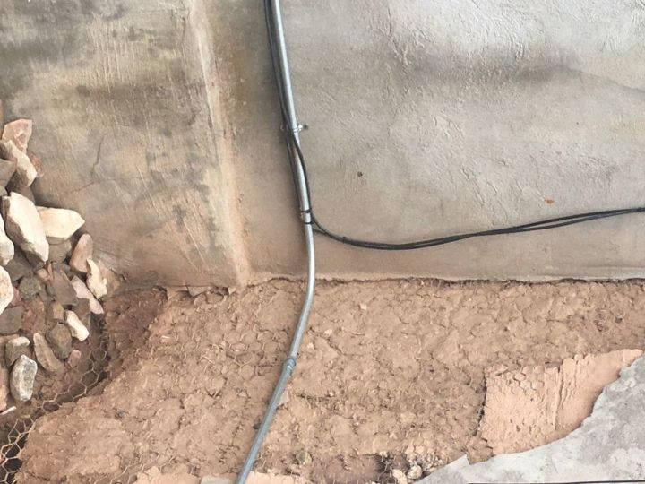 q how do i fix a water damaged adobe wall