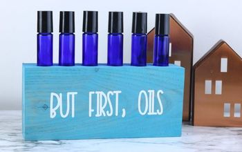 diy essential oil roller bottle storage block