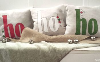holiday ho ho ho throw pillows
