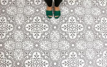 How To: Stencil an Elegant Tile Floor