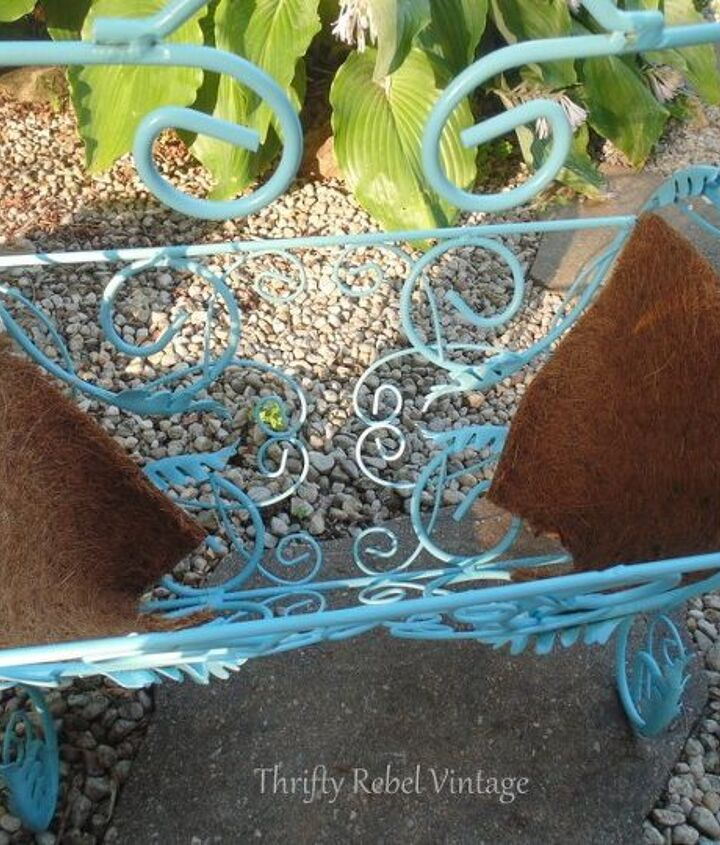 repurposed vintage magazine rack planter