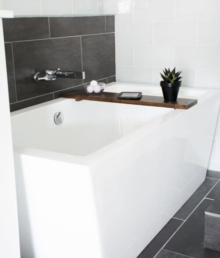 wood bathtub tray diy