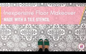 how to stencil an elegant tile floor