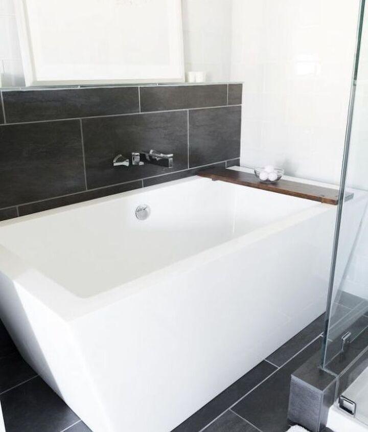 major updates to our build grade beige master bathroom