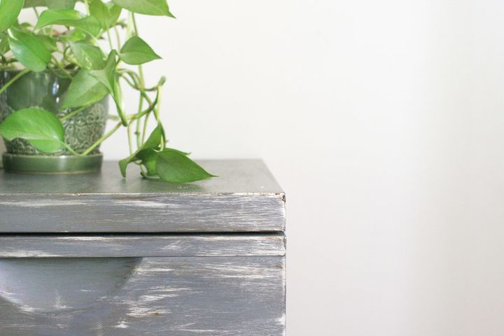 how to create a faux zinc metal finish