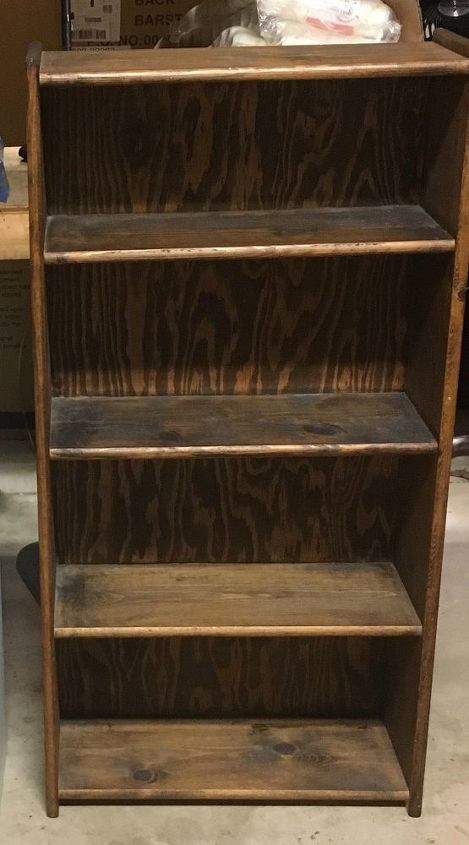 repurposed bookshelf