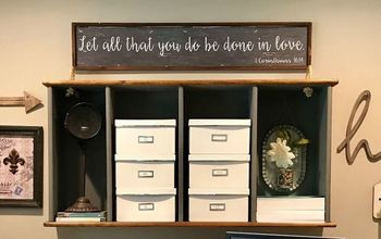 Repurposed Bookshelf