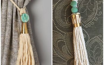 Anthropologie Inspired Watershed Curtain Tieback