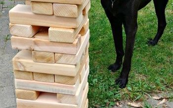 how to make a giant outdoor jenga game and teach your kids diy skills